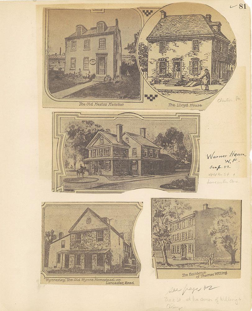 Castner Scrapbook v.27, Old Houses 4, page 81