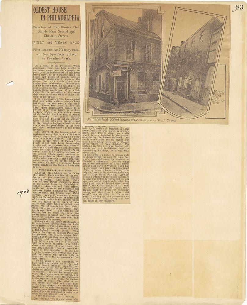 Castner Scrapbook v.27, Old Houses 4, page 83