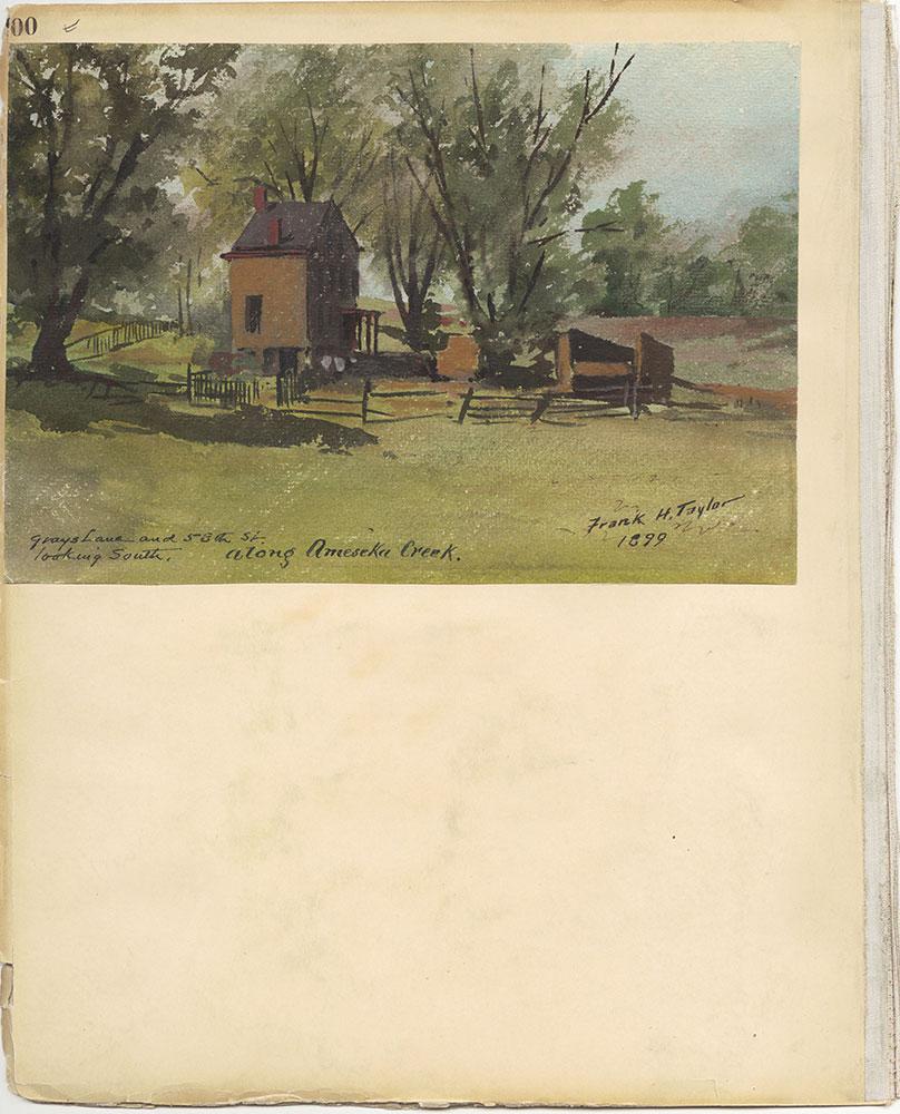 Castner Scrapbook v.27, Old Houses 4, page 100