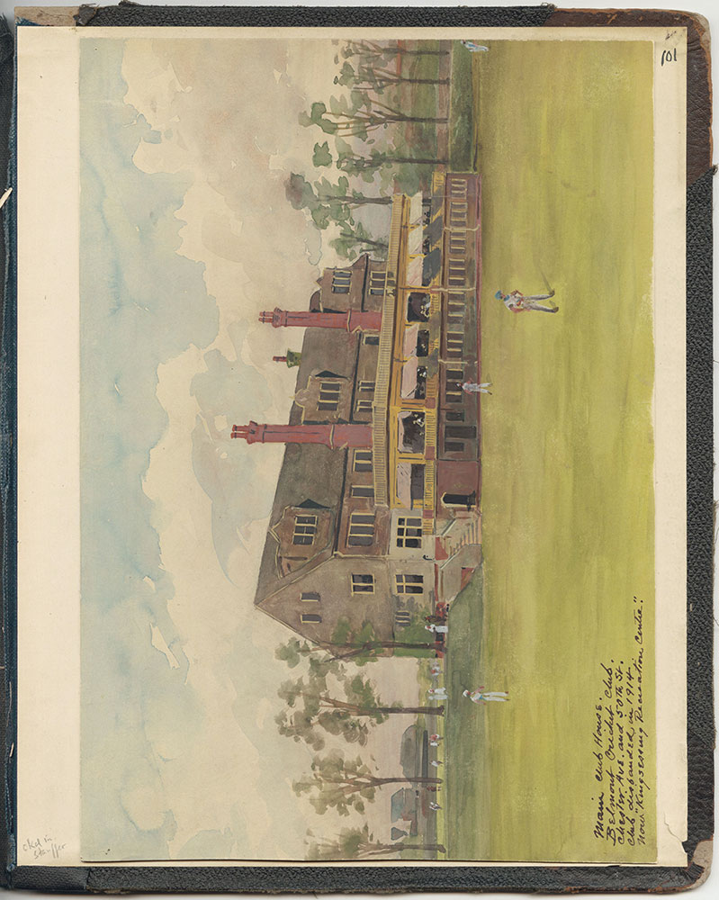 Castner Scrapbook v.27, Old Houses 4, page 101 (inside back cover)