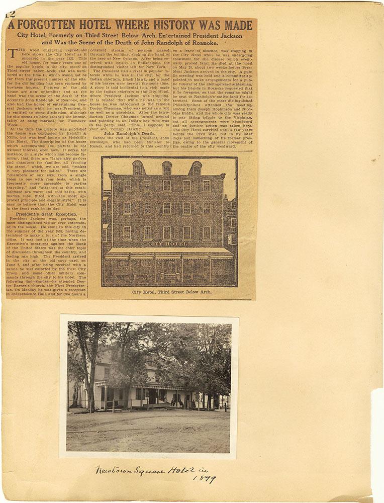 Castner Scrapbook v.29, Hotels 2, page 12