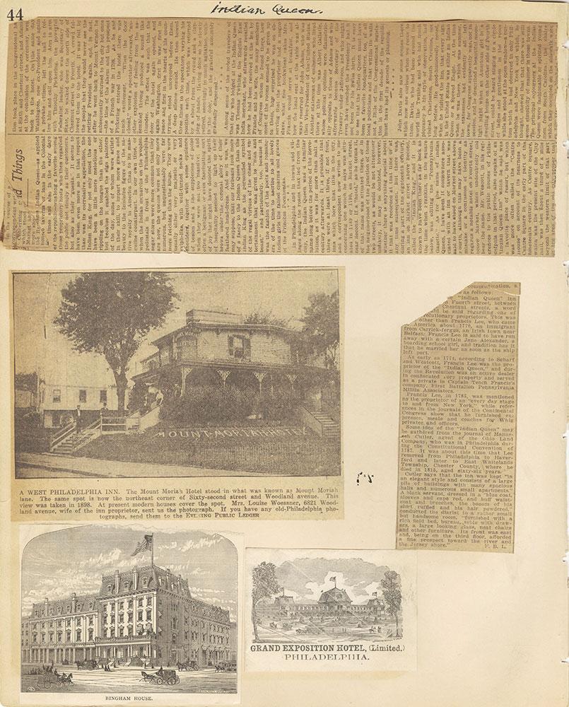 Castner Scrapbook v.29, Hotels 2, page 44