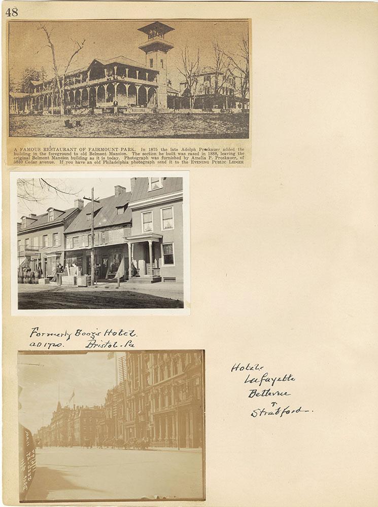 Castner Scrapbook v.29, Hotels 2, page 48