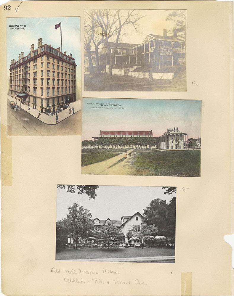 Castner Scrapbook v.29, Hotels 2, page 92