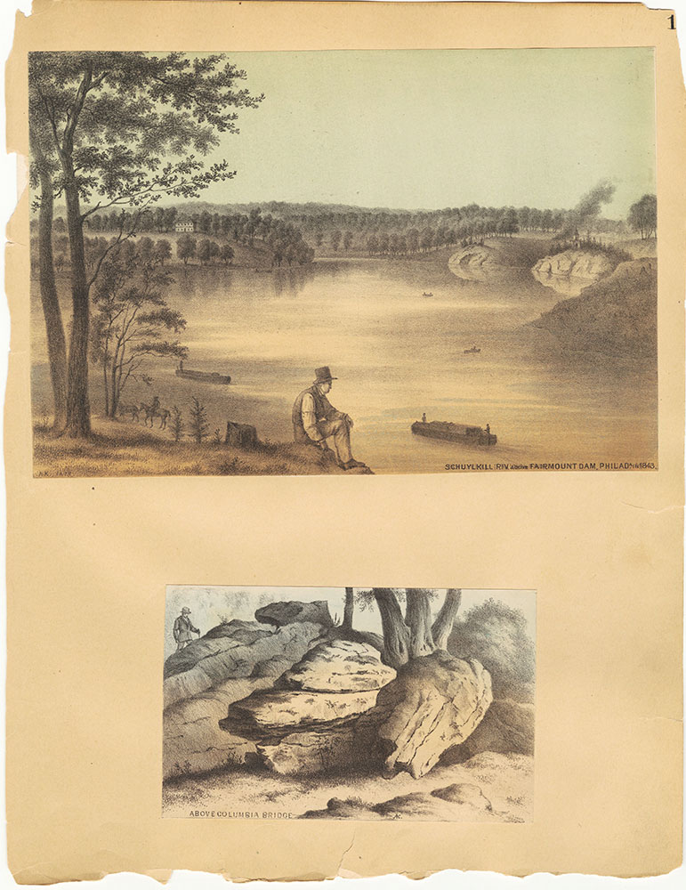 Castner Scrapbook v.30, Park and Schuylkill River 2, page 1