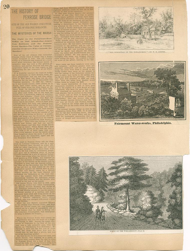 Castner Scrapbook v.30, Park and Schuylkill River 2, page 20