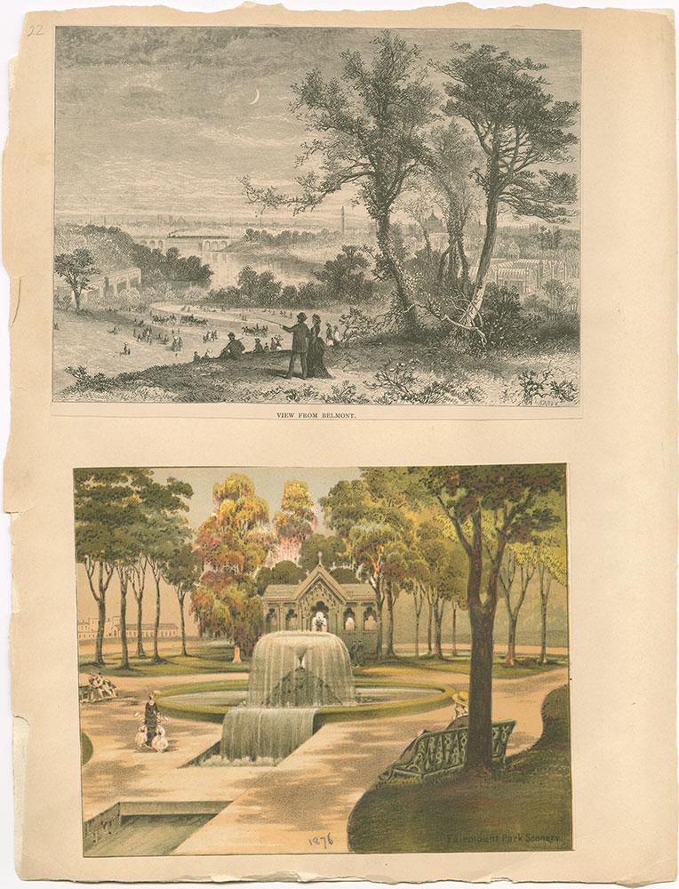Castner Scrapbook v.30, Park and Schuylkill River 2, page 22