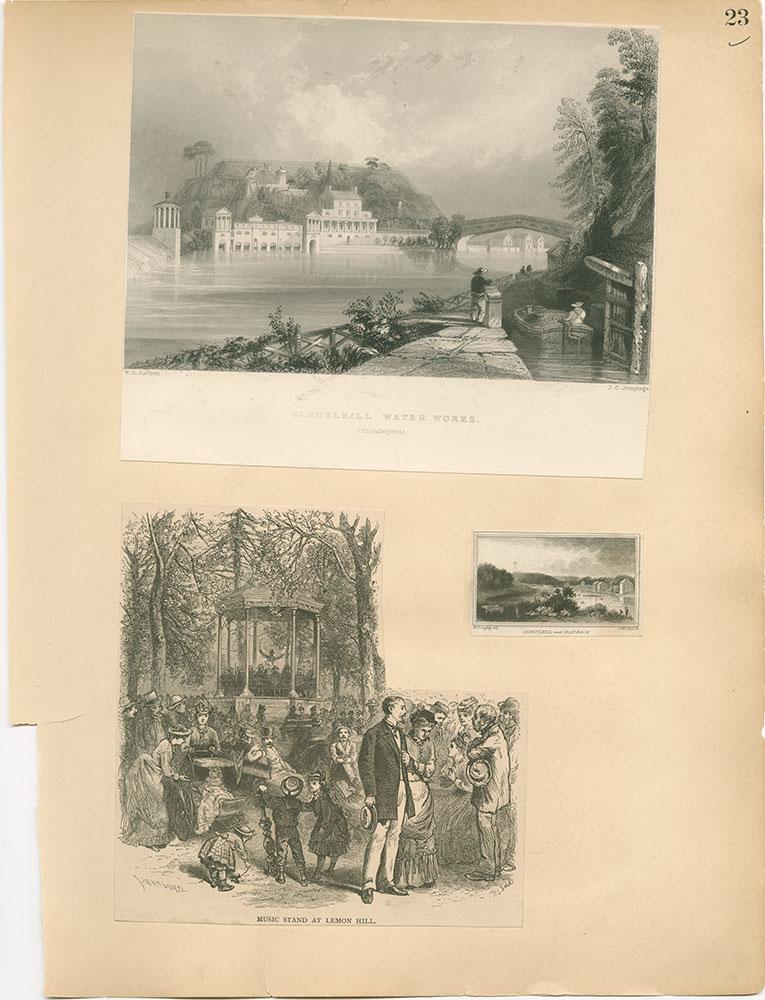 Castner Scrapbook v.30, Park and Schuylkill River 2, page 23