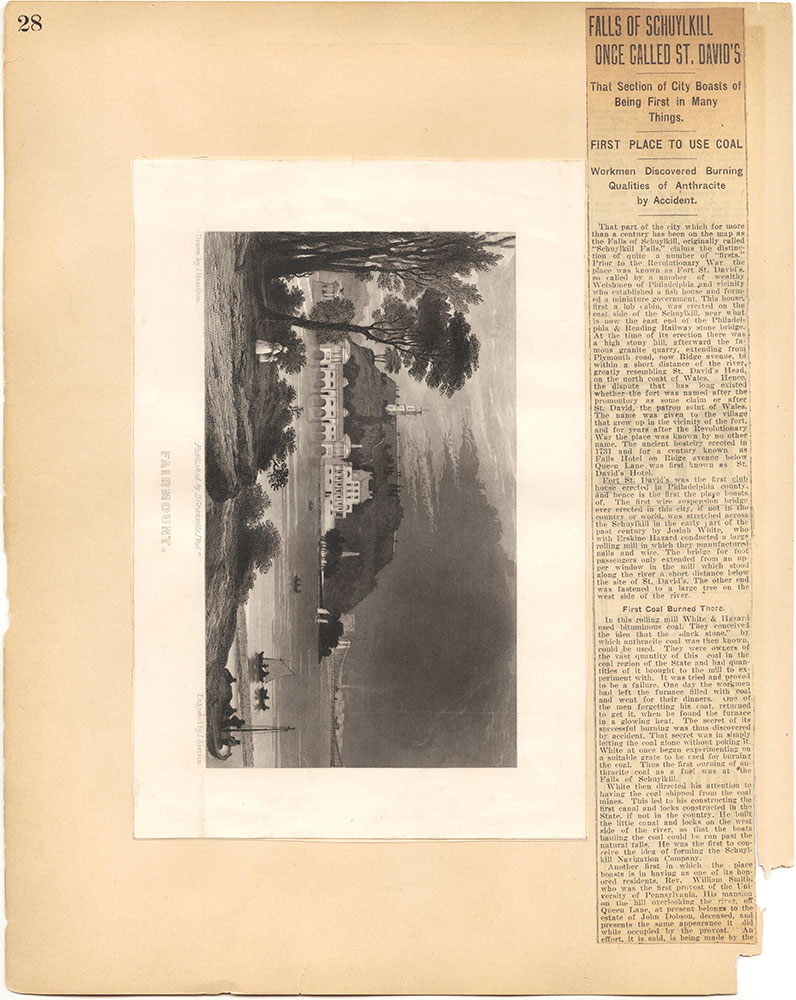 Castner Scrapbook v.30, Park and Schuylkill River 2, page 28