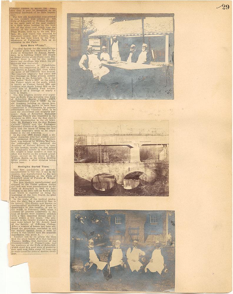 Castner Scrapbook v.30, Park and Schuylkill River 2, page 29