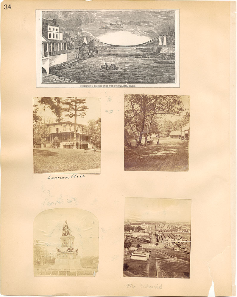 Castner Scrapbook v.30, Park and Schuylkill River 2, page 34