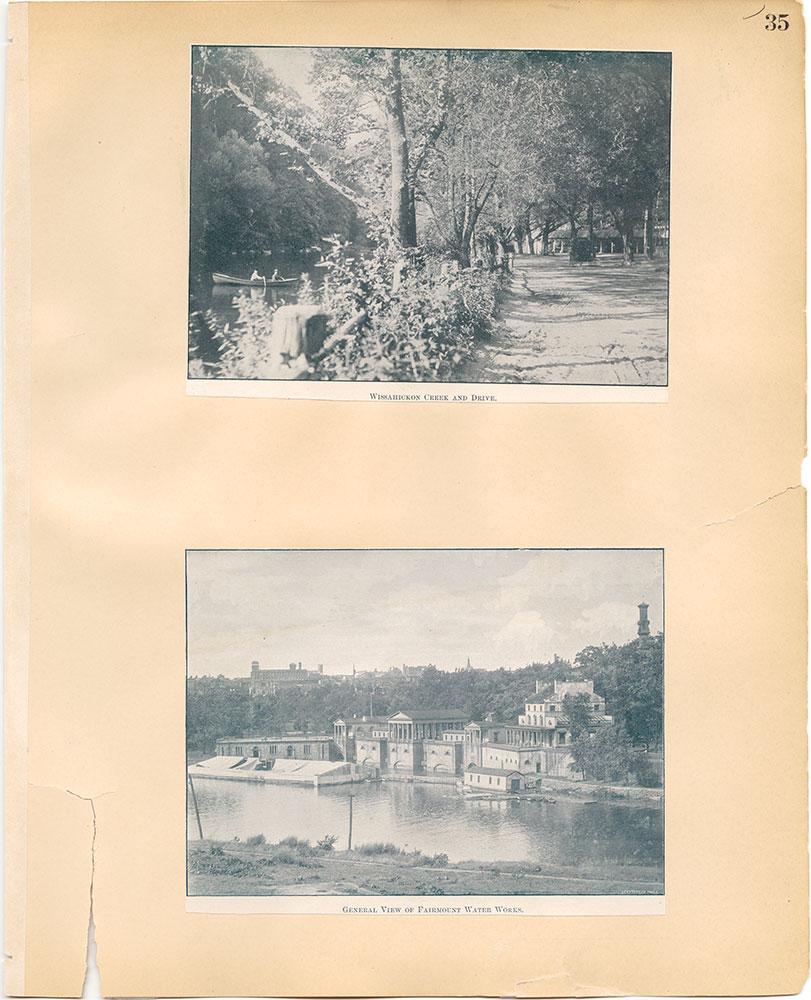 Castner Scrapbook v.30, Park and Schuylkill River 2, page 35