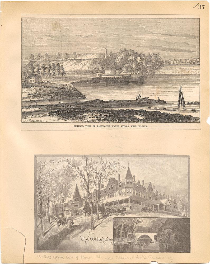 Castner Scrapbook v.30, Park and Schuylkill River 2, page 37