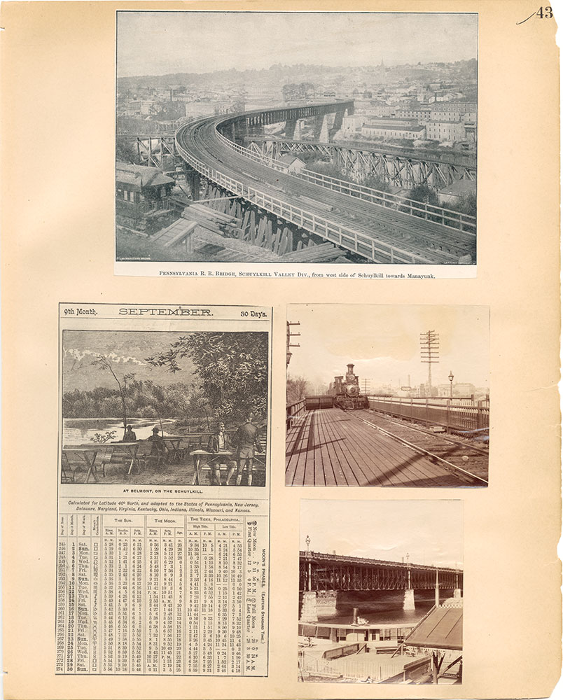 Castner Scrapbook v.30, Park and Schuylkill River 2, page 43