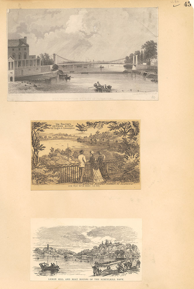 Castner Scrapbook v.30, Park and Schuylkill River 2, page 45