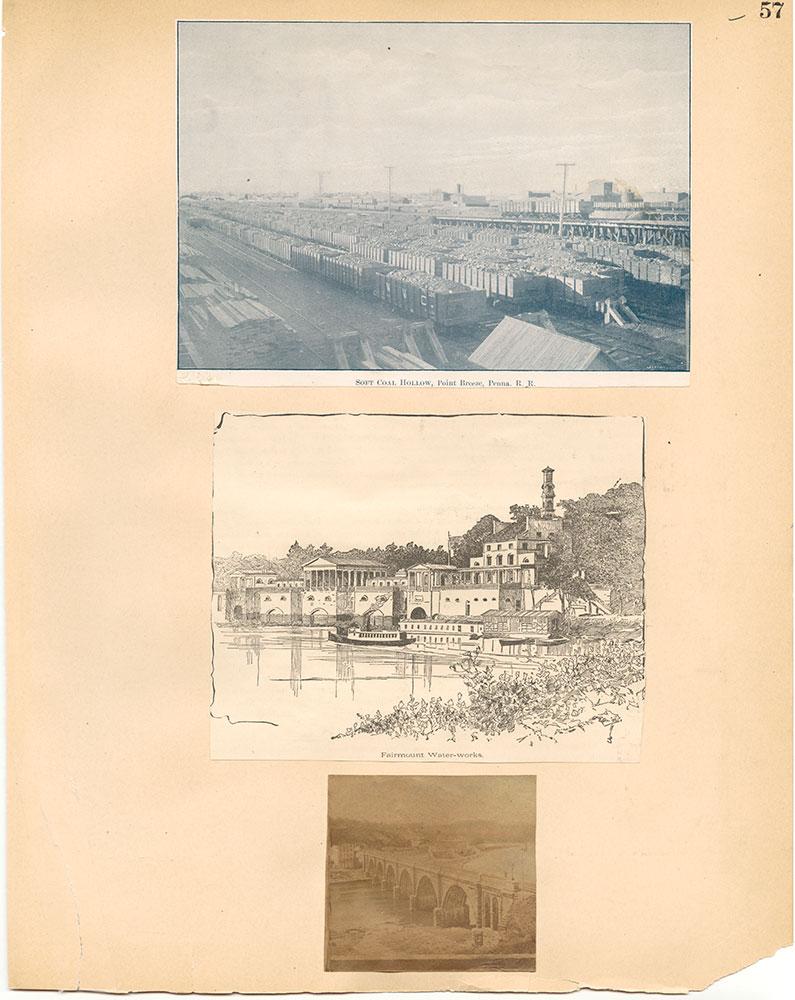 Castner Scrapbook v.30, Park and Schuylkill River 2, page 57