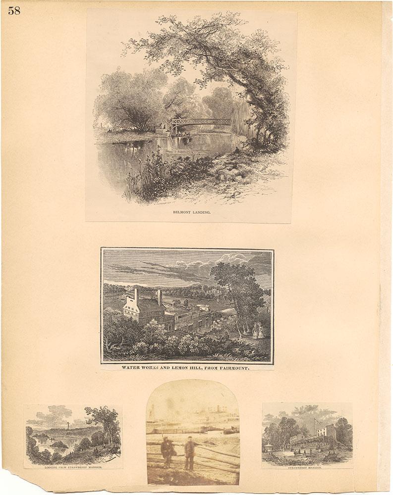 Castner Scrapbook v.30, Park and Schuylkill River 2, page 58
