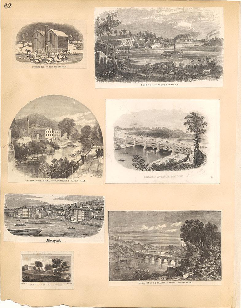 Castner Scrapbook v.30, Park and Schuylkill River 2, page 62
