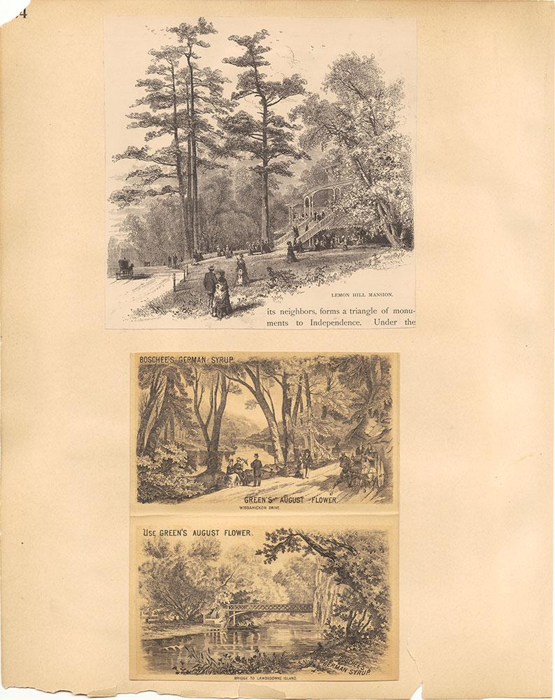 Castner Scrapbook v.30, Park and Schuylkill River 2, page 64