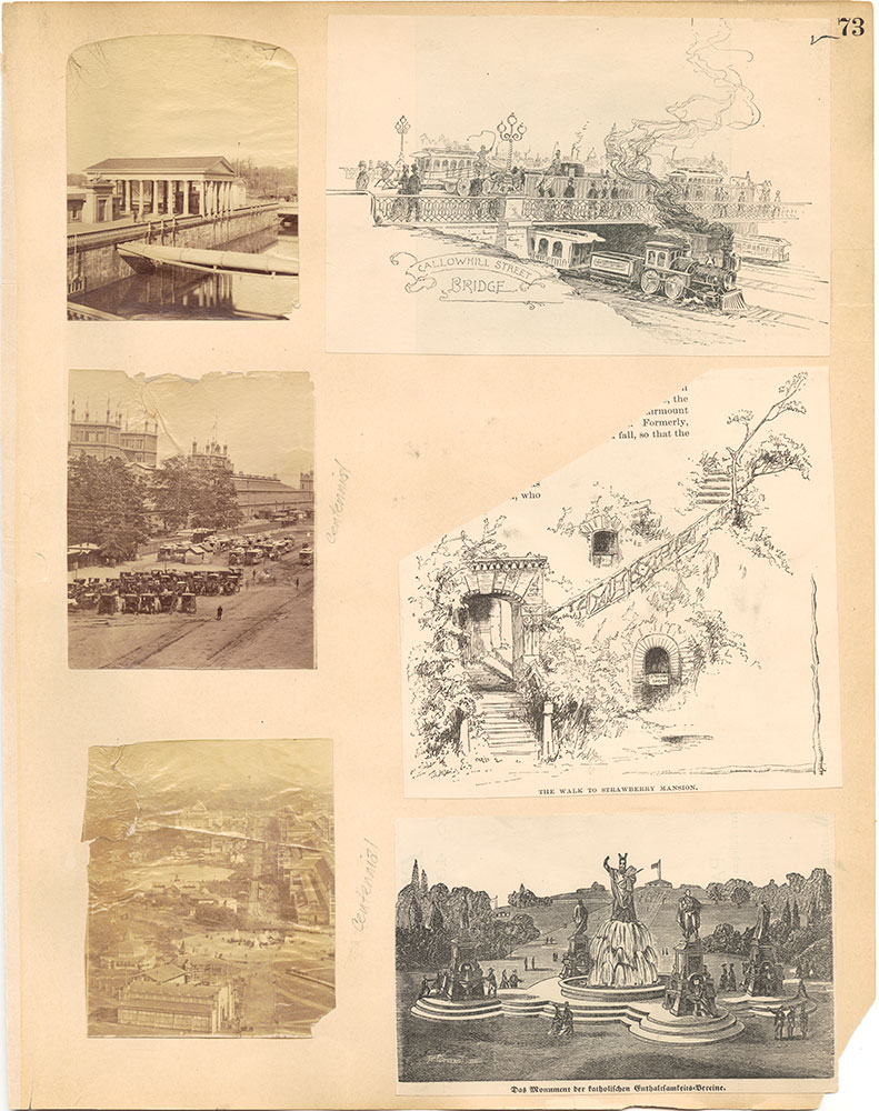 Castner Scrapbook v.30, Park and Schuylkill River 2, page 73