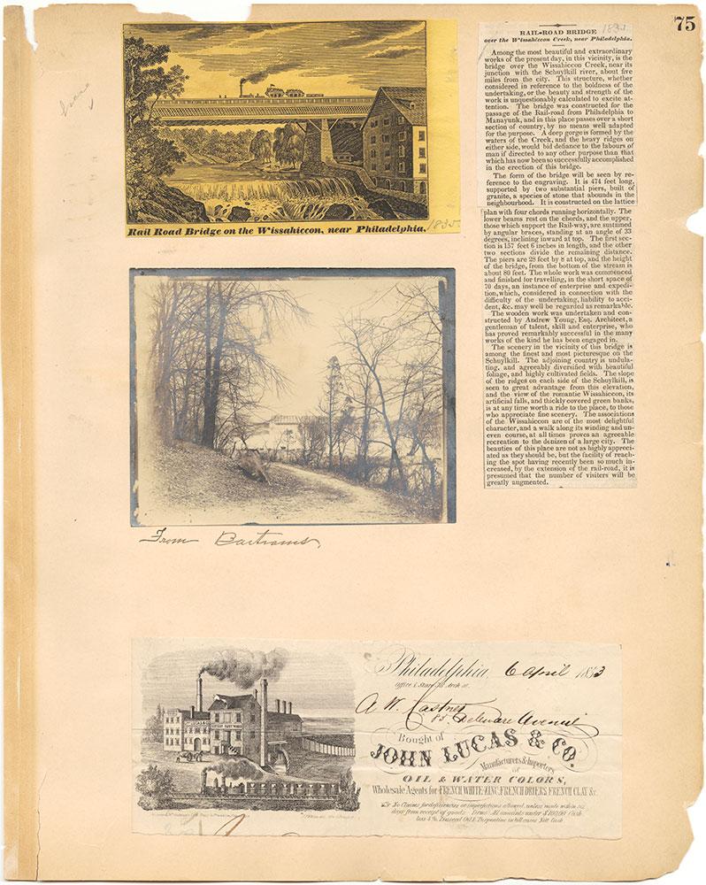 Castner Scrapbook v.30, Park and Schuylkill River 2, page 75