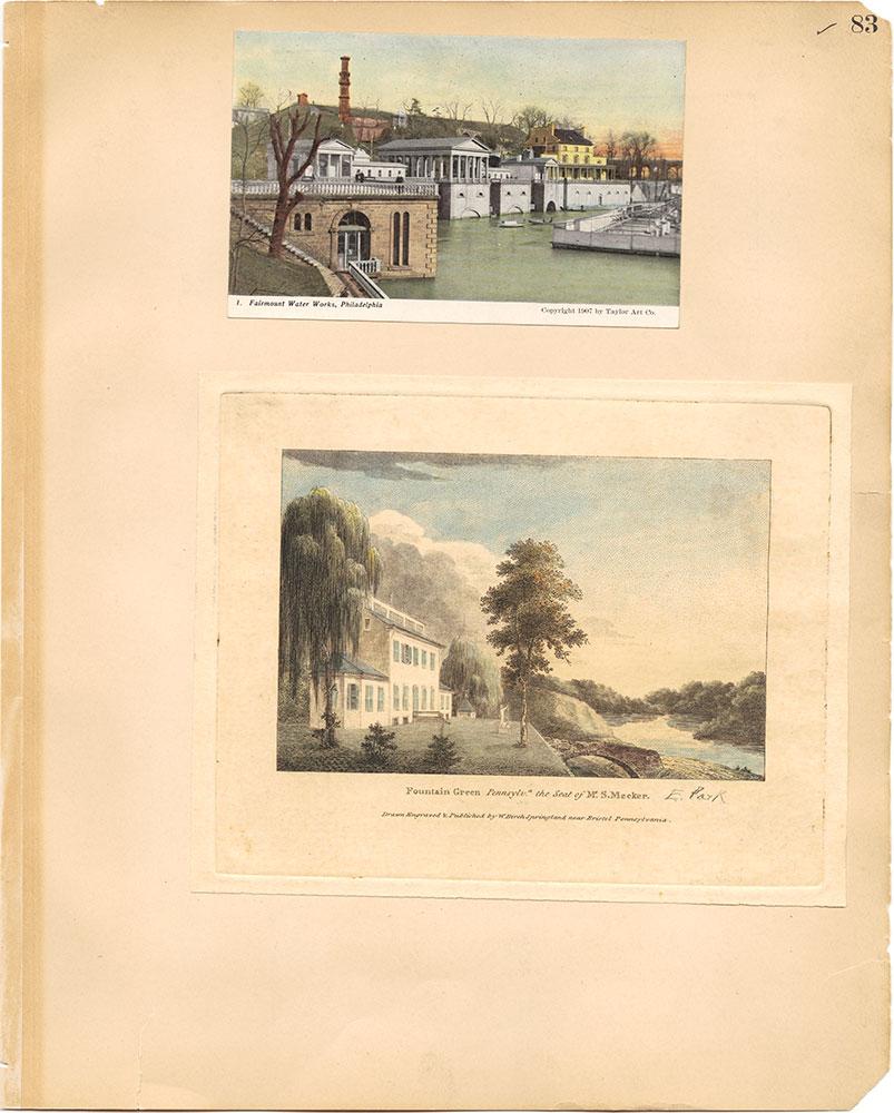 Castner Scrapbook v.30, Park and Schuylkill River 2, page 83