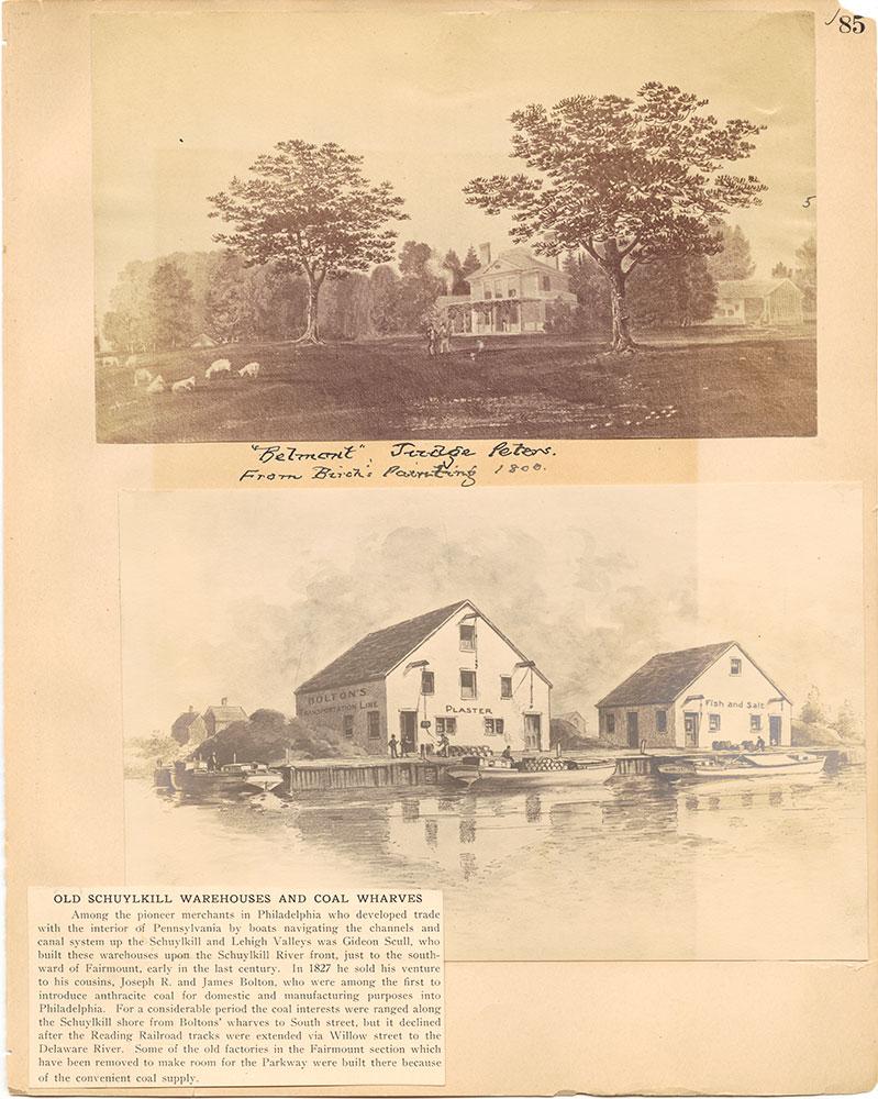 Castner Scrapbook v.30, Park and Schuylkill River 2, page 85
