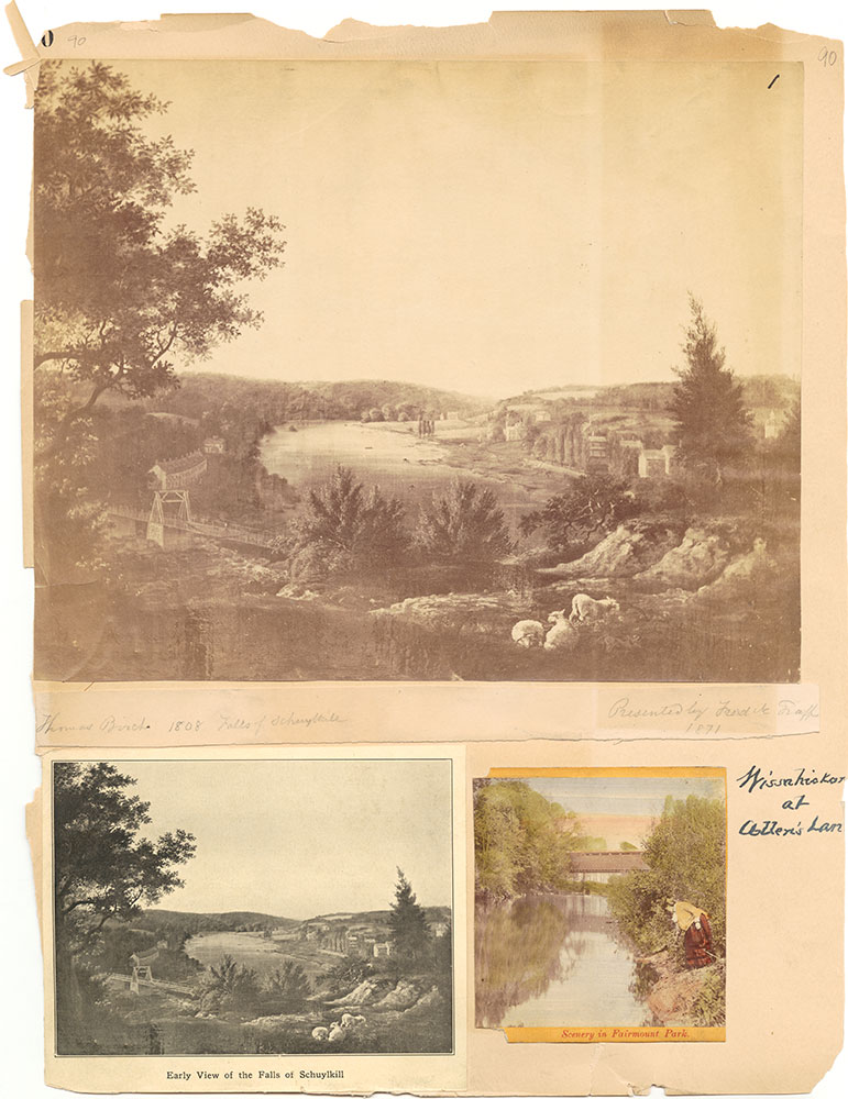Castner Scrapbook v.30, Park and Schuylkill River 2, page 90