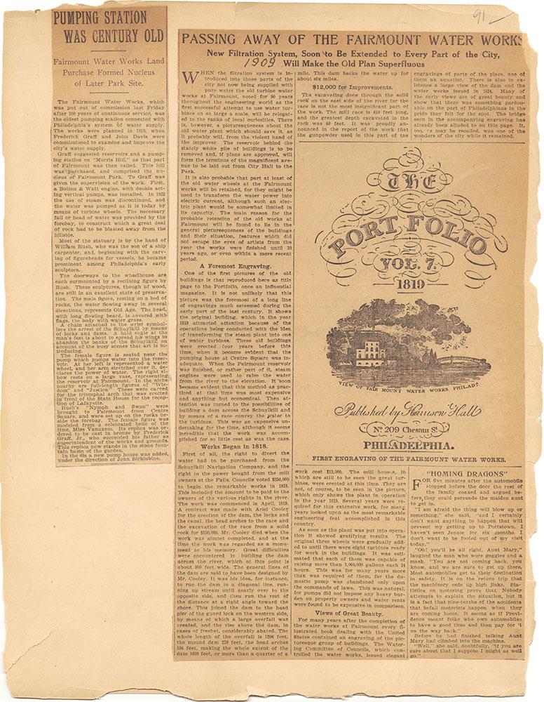 Castner Scrapbook v.30, Park and Schuylkill River 2, page 91