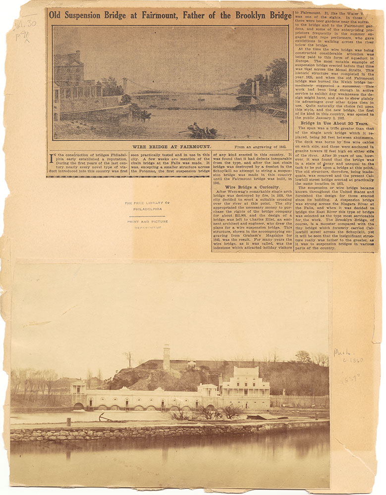Castner Scrapbook v.30, Park and Schuylkill River 2, page 92