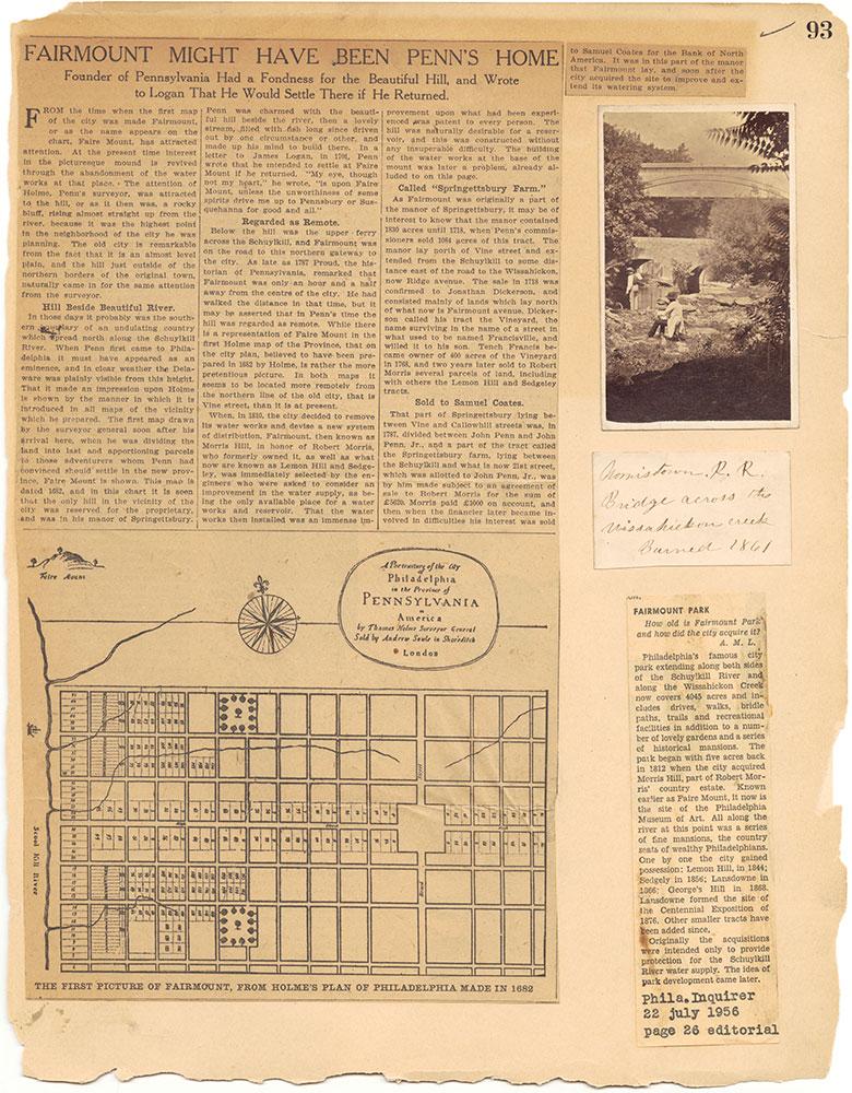 Castner Scrapbook v.30, Park and Schuylkill River 2, page 93