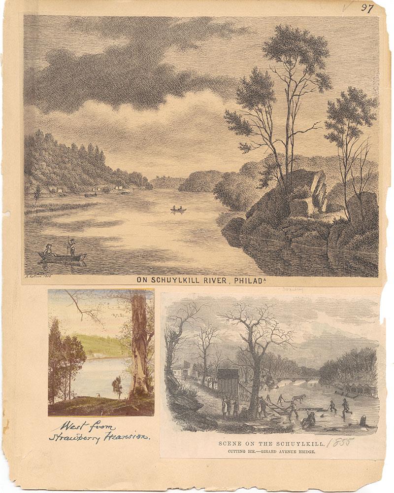 Castner Scrapbook v.30, Park and Schuylkill River 2, page 97