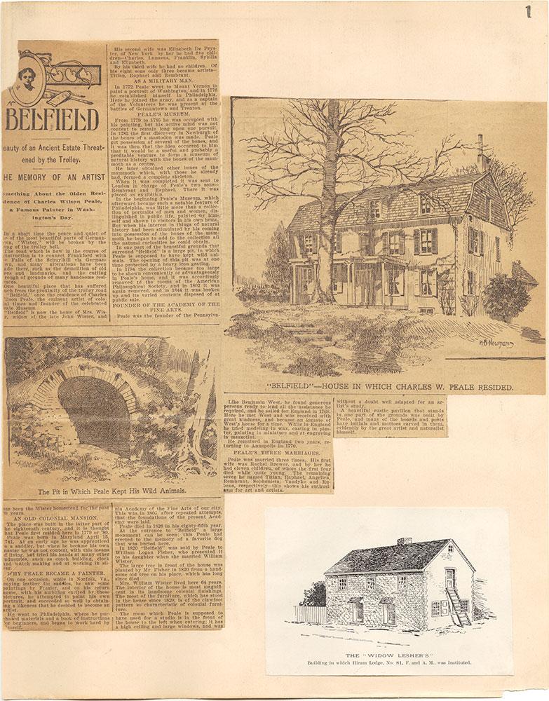 Castner Scrapbook v.38, Germantown 2, page 1