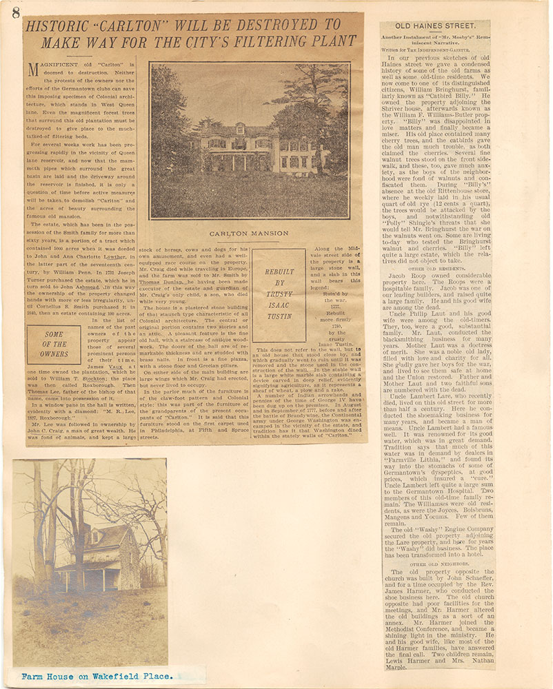 Castner Scrapbook v.38, Germantown 2, page 8