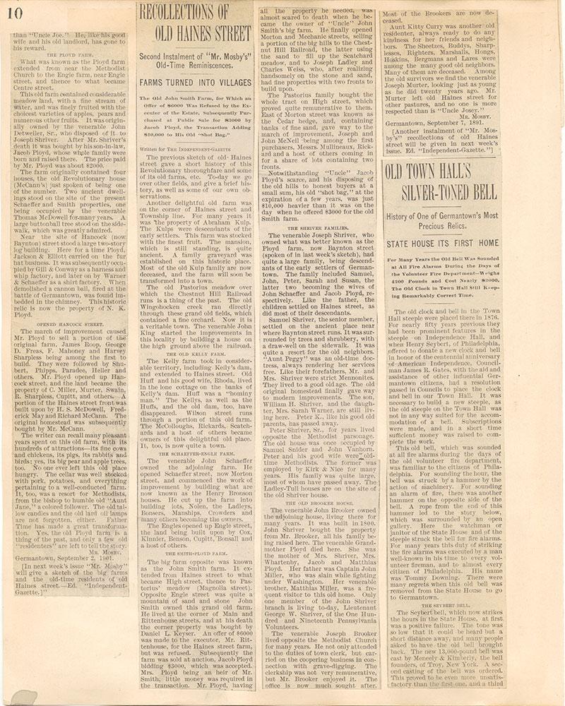 Castner Scrapbook v.38, Germantown 2, page 10