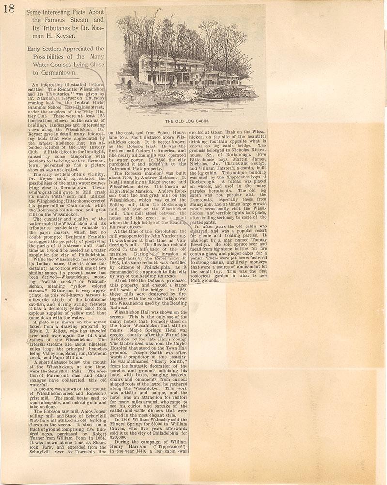 Castner Scrapbook v.38, Germantown 2, page 18