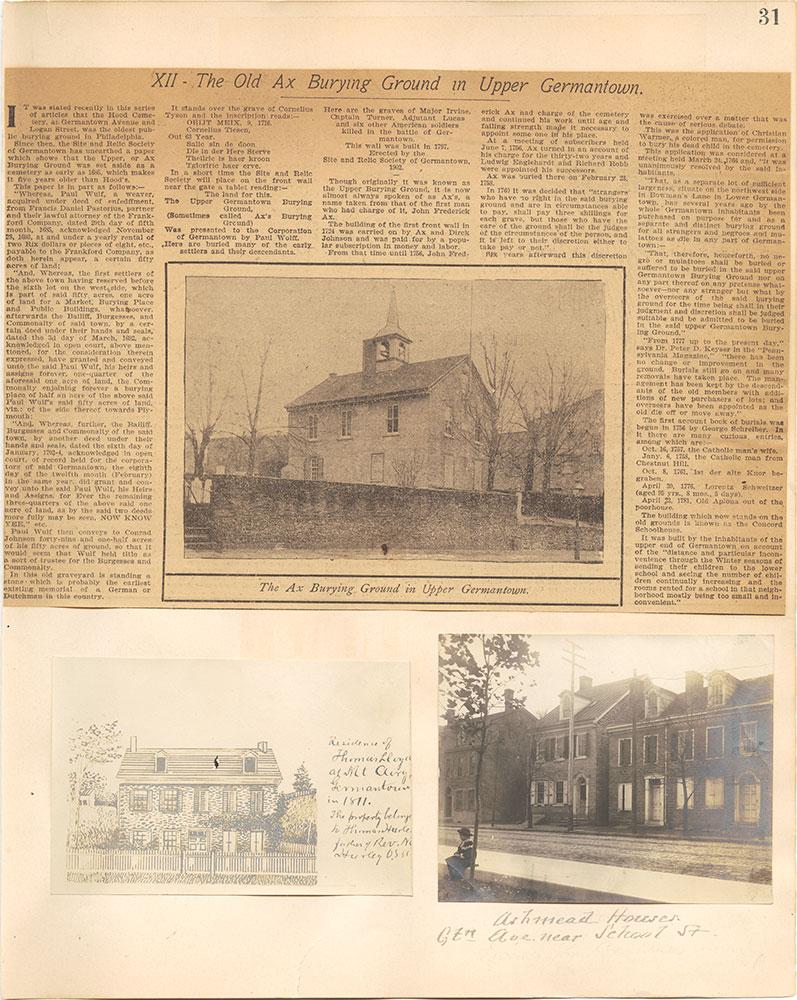 Castner Scrapbook v.38, Germantown 2, page 31