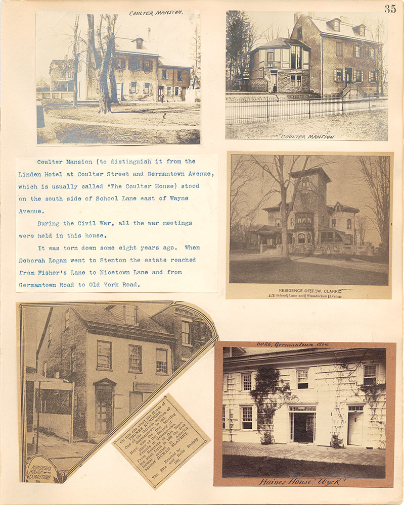 Castner Scrapbook v.38, Germantown 2, page 35