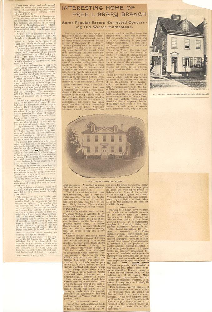 Castner Scrapbook v.38, Germantown 2, page 37