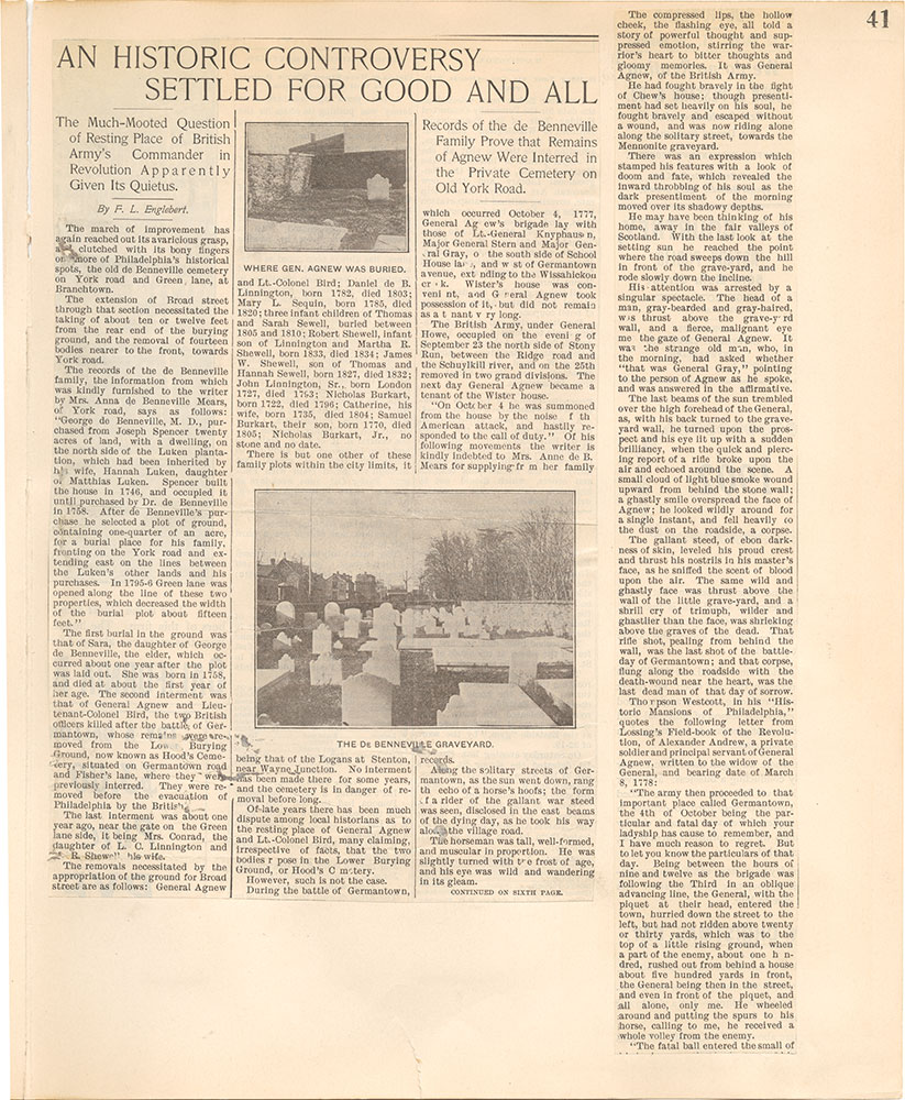 Castner Scrapbook v.38, Germantown 2, page 41