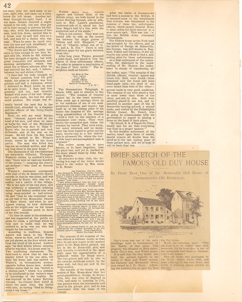 Castner Scrapbook v.38, Germantown 2, page 42