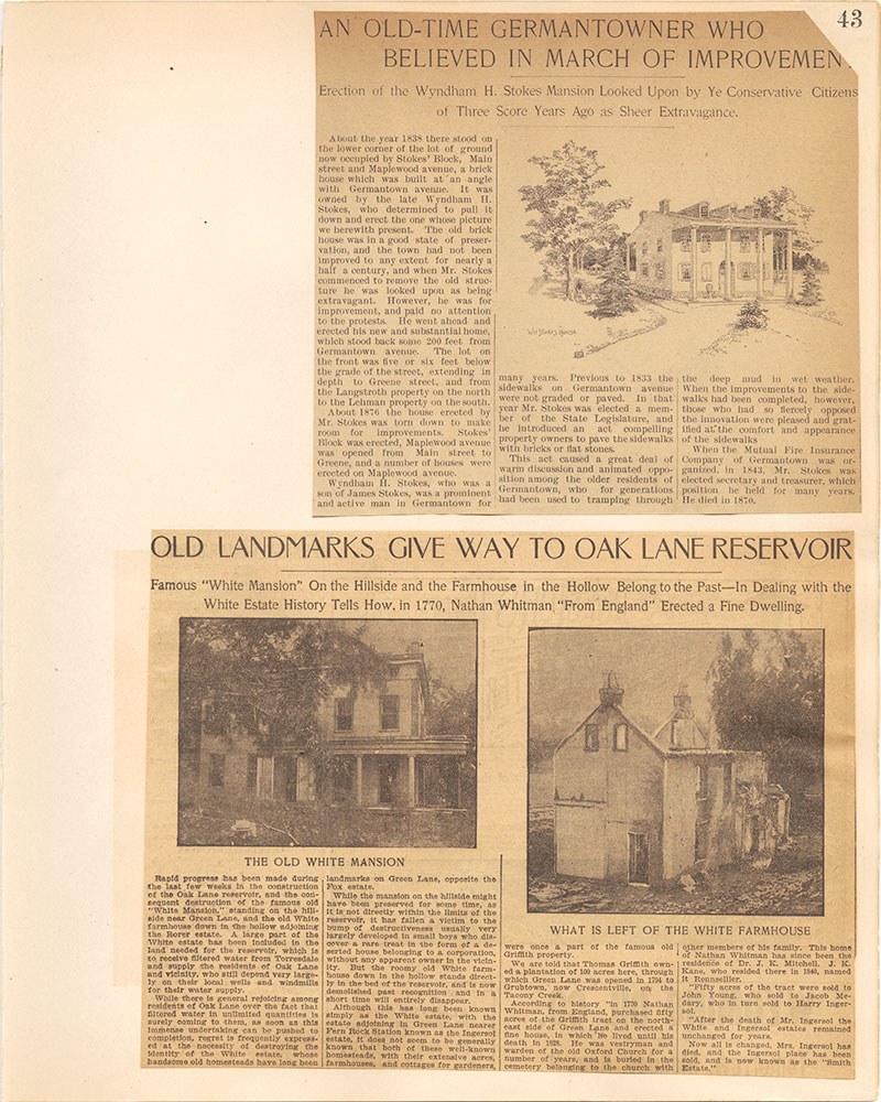 Castner Scrapbook v.38, Germantown 2, page 43