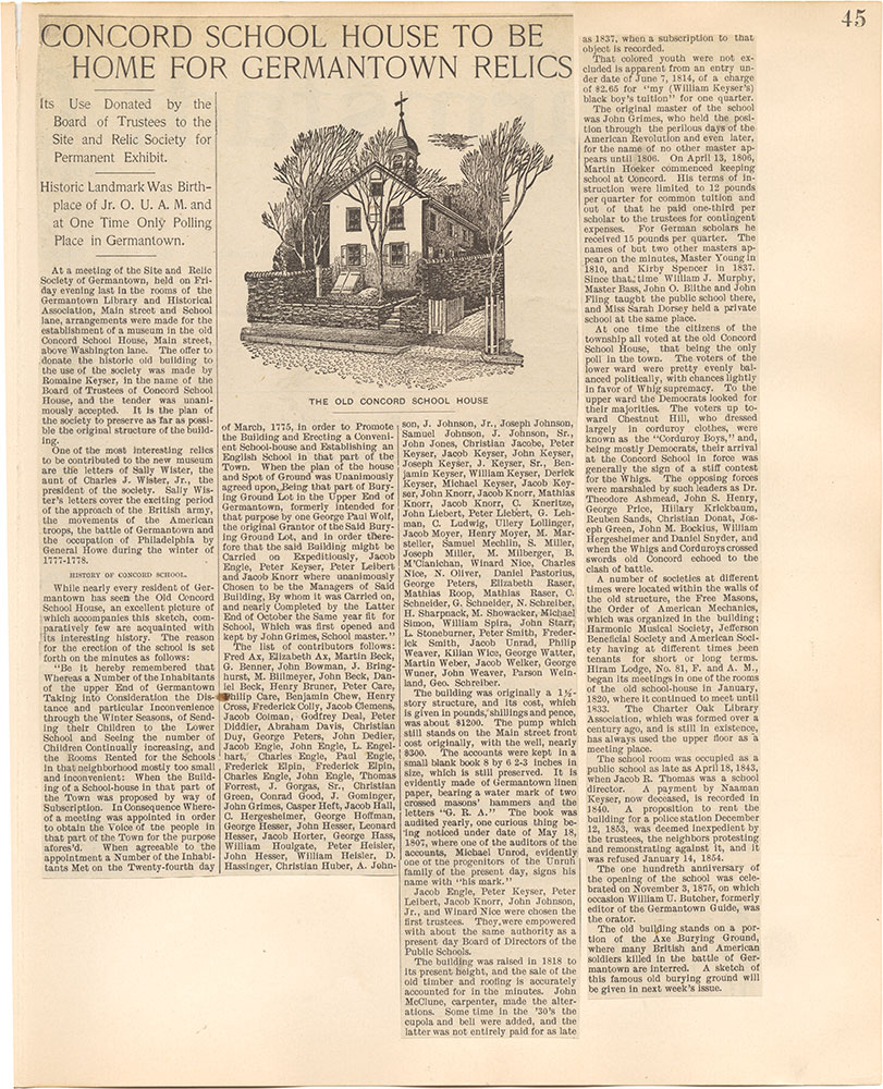 Castner Scrapbook v.38, Germantown 2, page 45