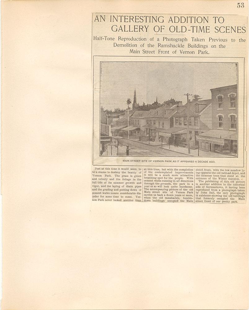 Castner Scrapbook v.38, Germantown 2, page 53