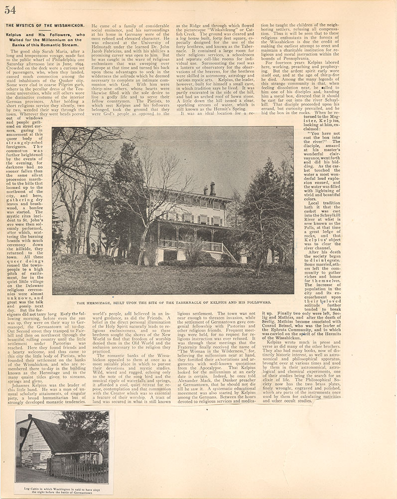 Castner Scrapbook v.38, Germantown 2, page 54