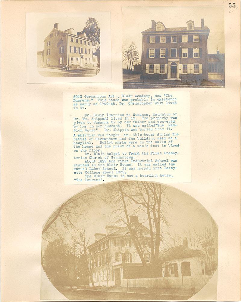 Castner Scrapbook v.38, Germantown 2, page 55