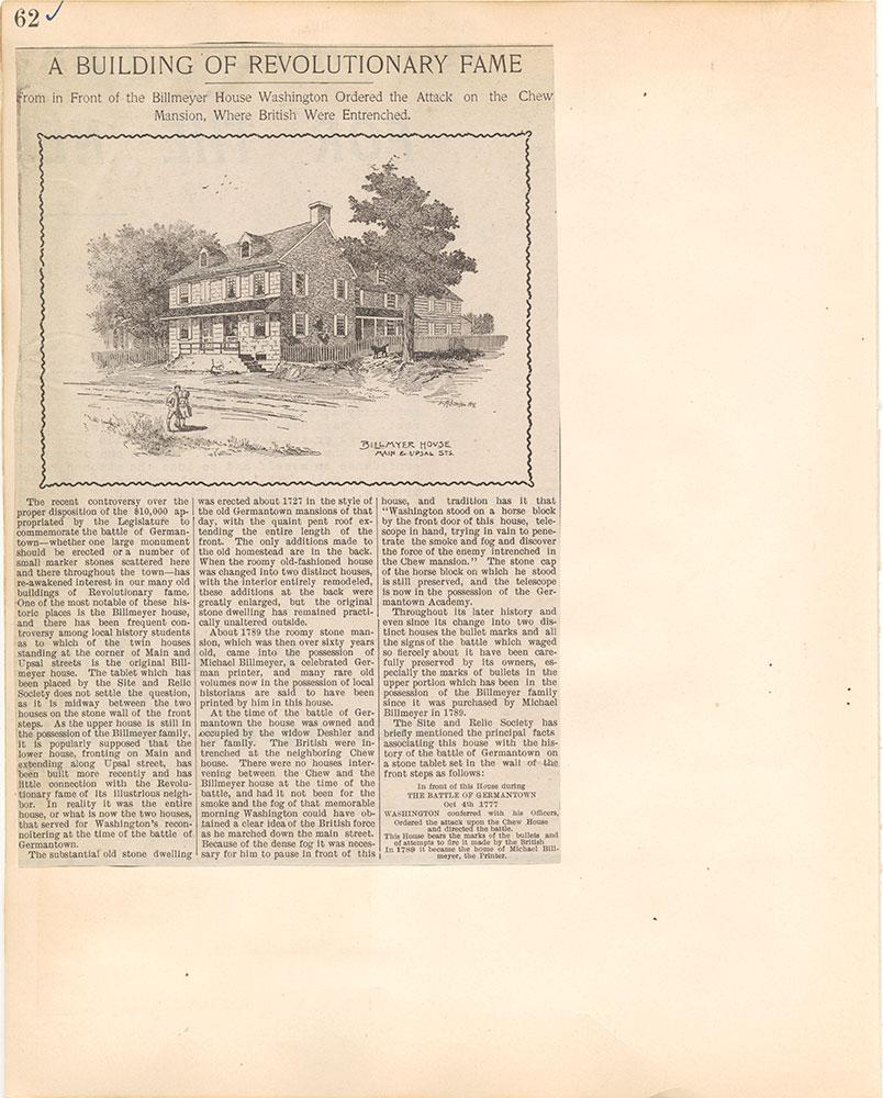 Castner Scrapbook v.38, Germantown 2, page 62