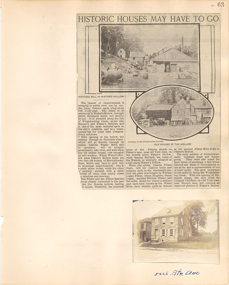 Castner Scrapbook v.38, Germantown 2, page 63