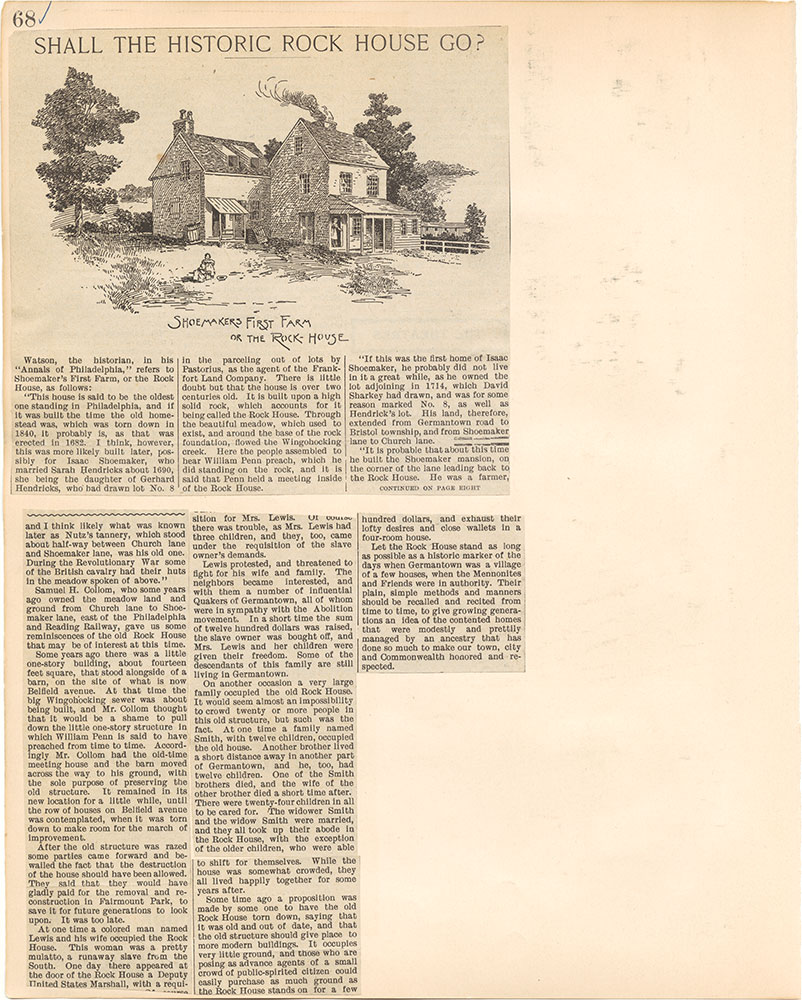 Castner Scrapbook v.38, Germantown 2, page 68