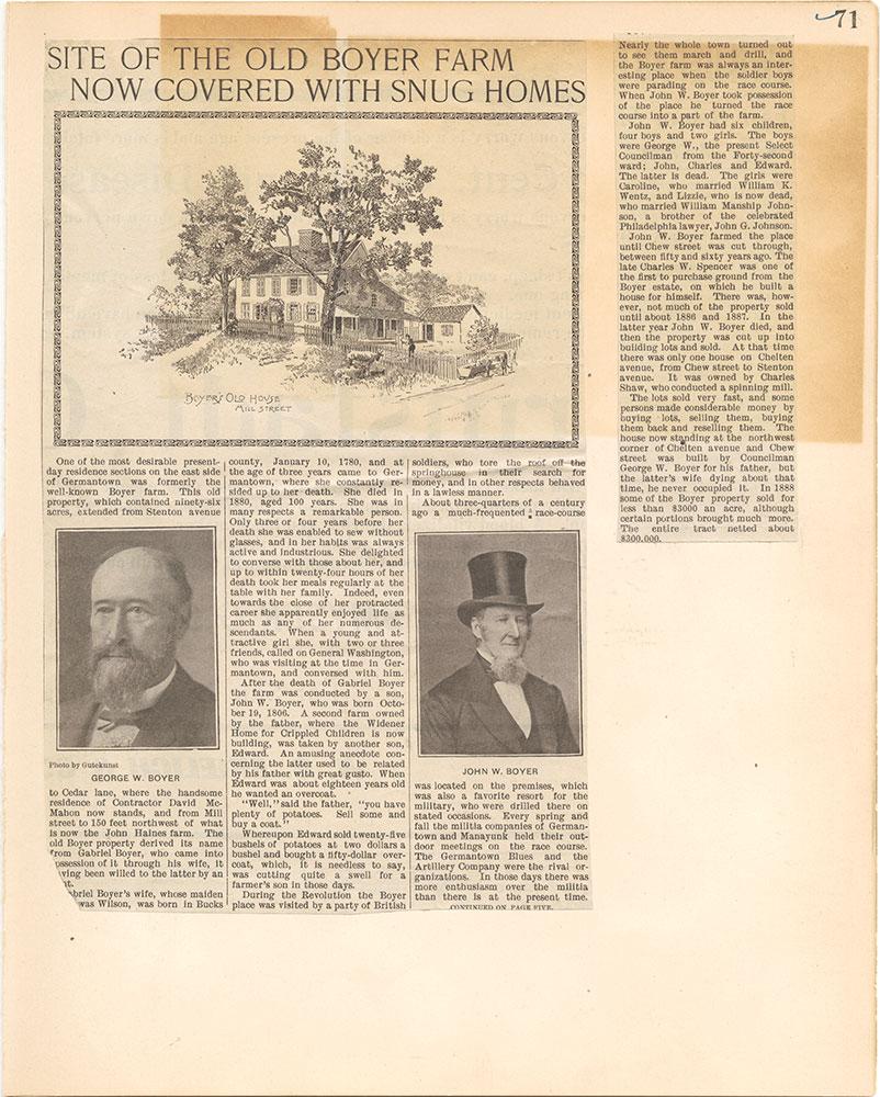Castner Scrapbook v.38, Germantown 2, page 71